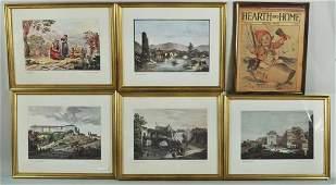 Group Fourteen Framed Artworks