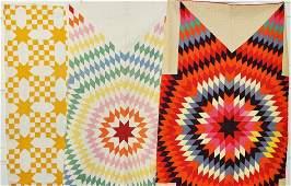 Three Patchwork Star Quilts