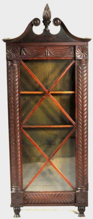 American Classical Mahogany Display Cabinet