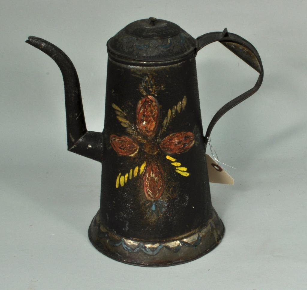 Pennsylvania Tole Painted Coffee Pot