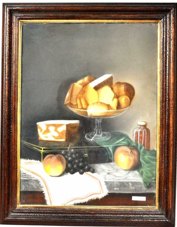 English School, Still Life of Cheese & Fruit