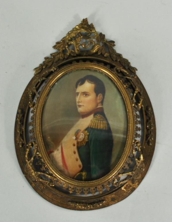 "European School, ""Portrait of Napoleon"" Watercolor"