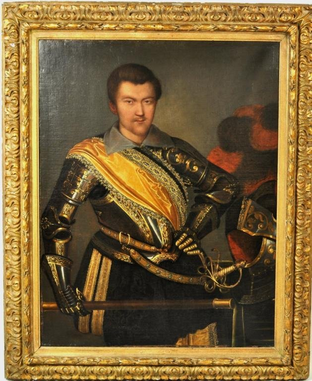 """Continental School, """"Prince in Regalia"""", 17th C."""