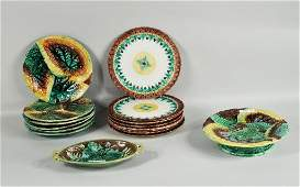 Group English  European Majolica Pottery