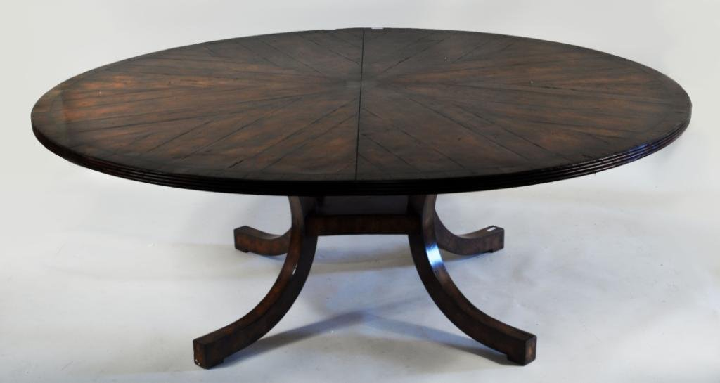 Large Regency Style Round Dining Table Holly Hunt : 178005921x from liveauctioneers.com size 1600 x 852 jpeg 87kB