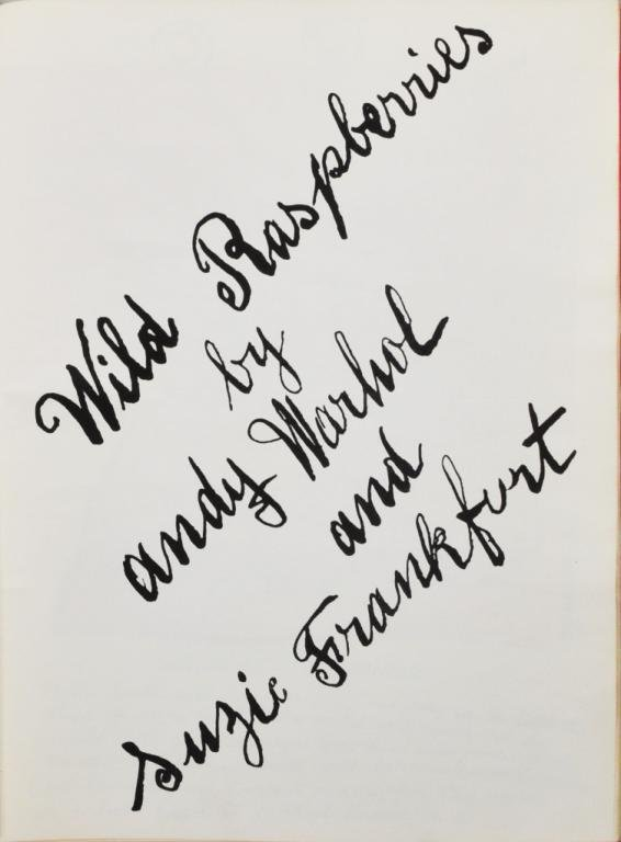 "Andy Warhol, ""Wild Raspberries"", 1959"