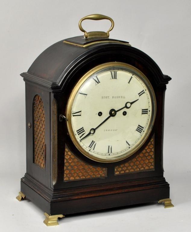 Geo III Mahogany Bracket Clock, Robert Roskell