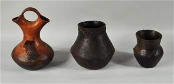 Three Navajo Pottery Items