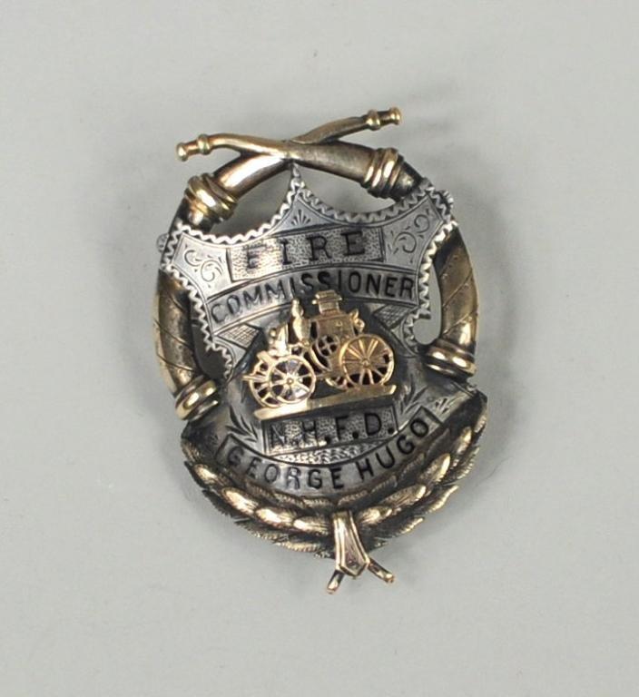 Silver/Gold & Enamel Fire Commissioner's Badge - 2