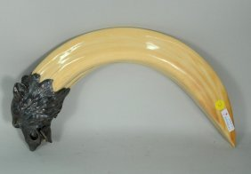 Boars Tusk & Silver Mounted Cigar Cutter