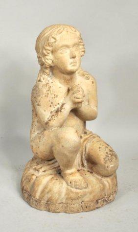 Terra Cotta Statue of Girl on Pillow, Philadelphia