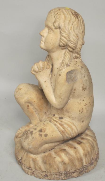 Terra Cotta Statue of Girl on Pillow, Philadelphia - 3