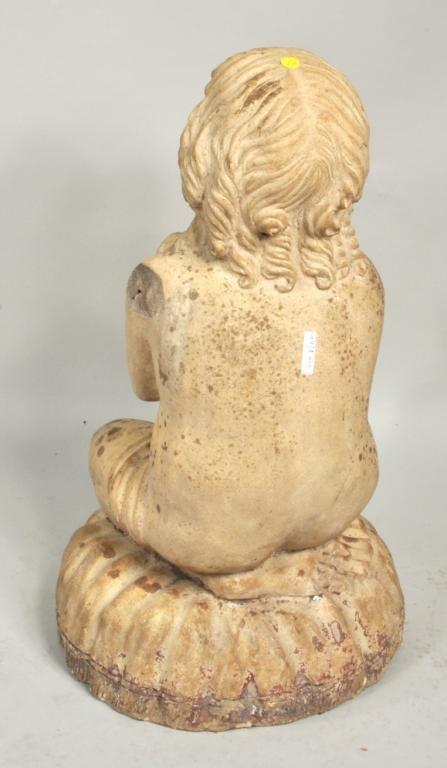 Terra Cotta Statue of Girl on Pillow, Philadelphia - 4
