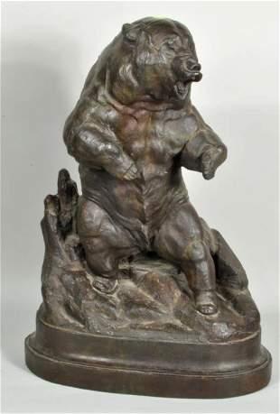 J.L. Clarke, Signed Grizzly Bear Bronze