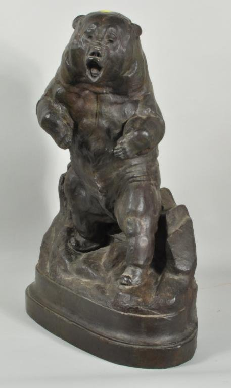 J.L. Clarke, Signed Grizzly Bear Bronze - 2