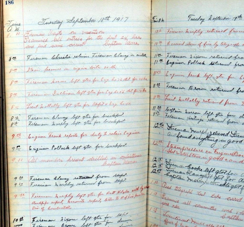 Two NYC Fire Station Record Books - 4