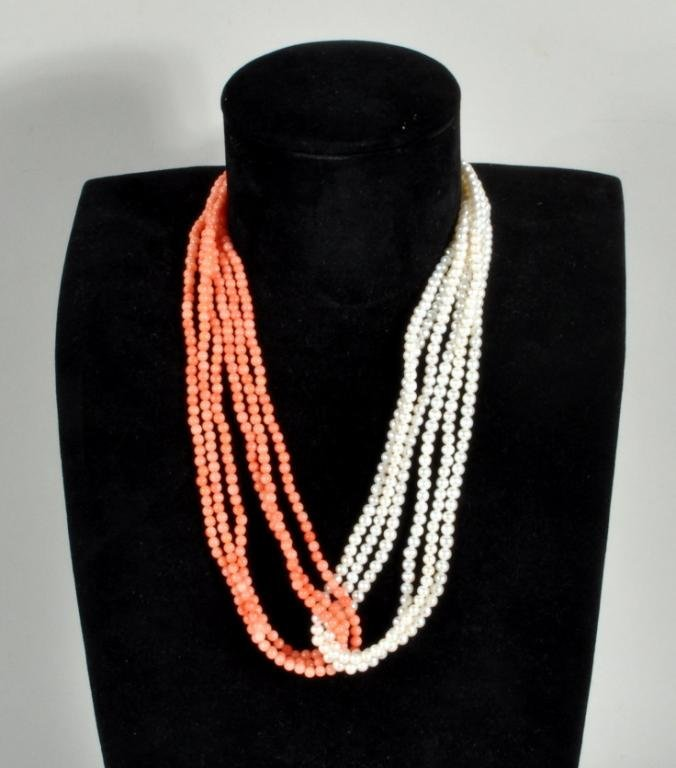Pearl & Coral Necklace
