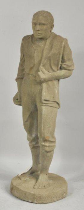 Concrete Statue Young Man
