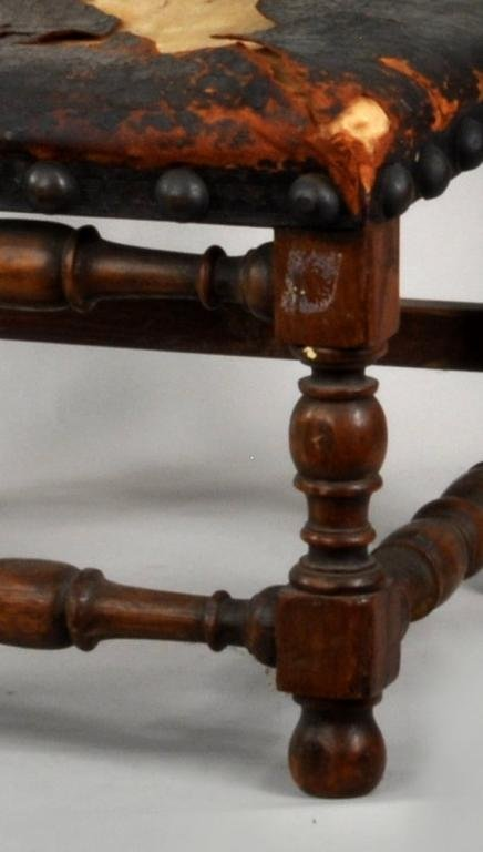 French Charles X Carved Oak Child's Side Chair - 3