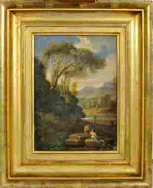 Possibly Abraham Genoels Oil on Canvas