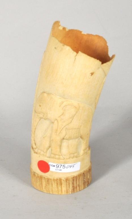 African Carved Ivory Tusk - 2