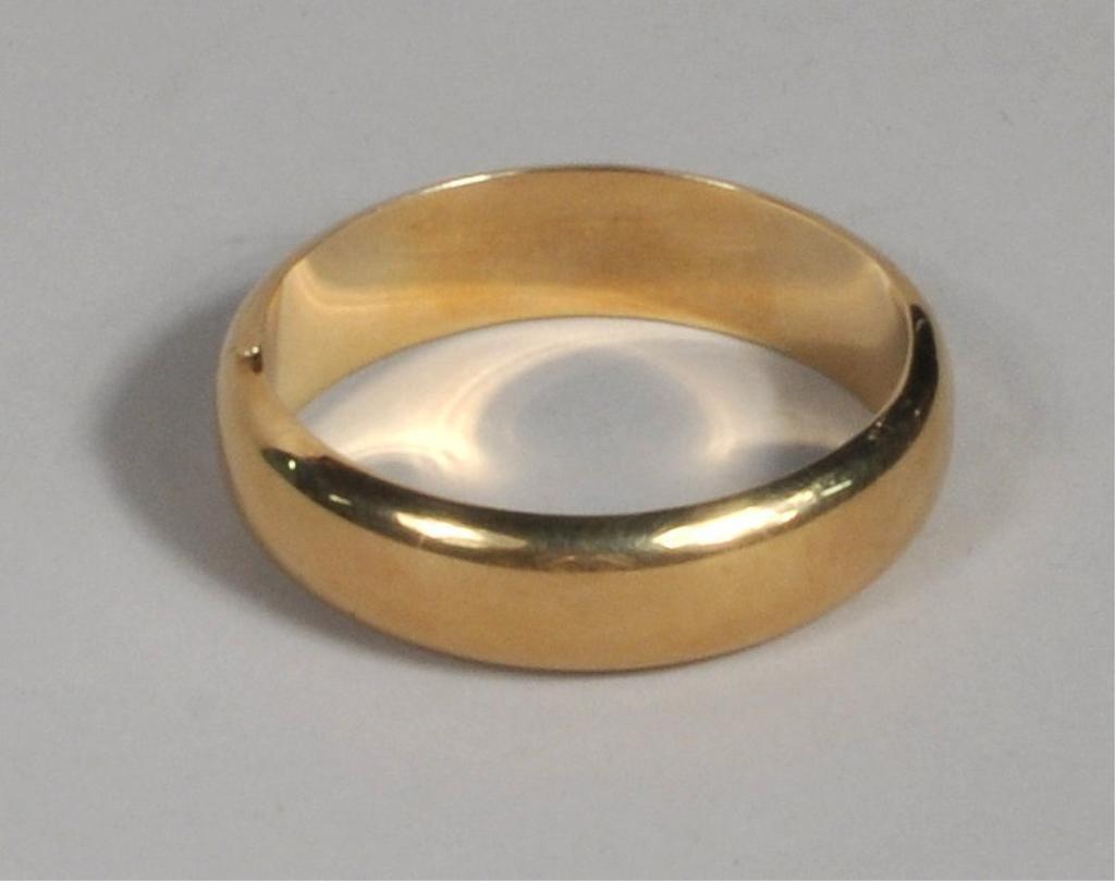 14K Gold Tiffany Cuff/Bangle Bracelet
