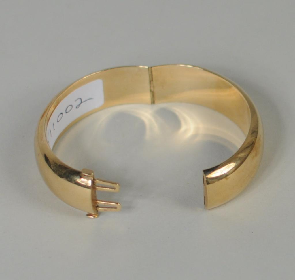 14K Gold Tiffany Cuff/Bangle Bracelet - 2