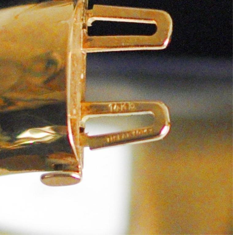 14K Gold Tiffany Cuff/Bangle Bracelet - 3