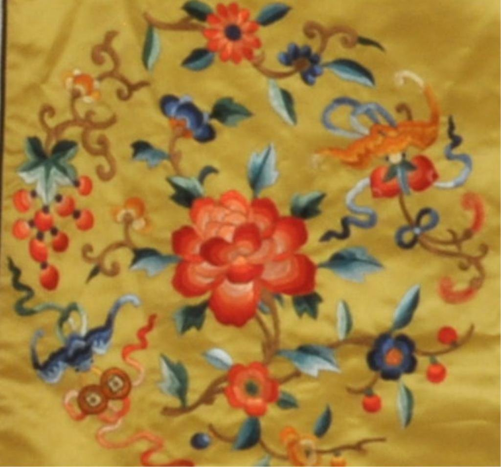Asian Embroidered Silk Robe - 3