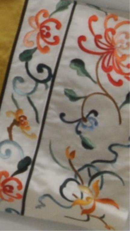 Asian Embroidered Silk Robe - 4