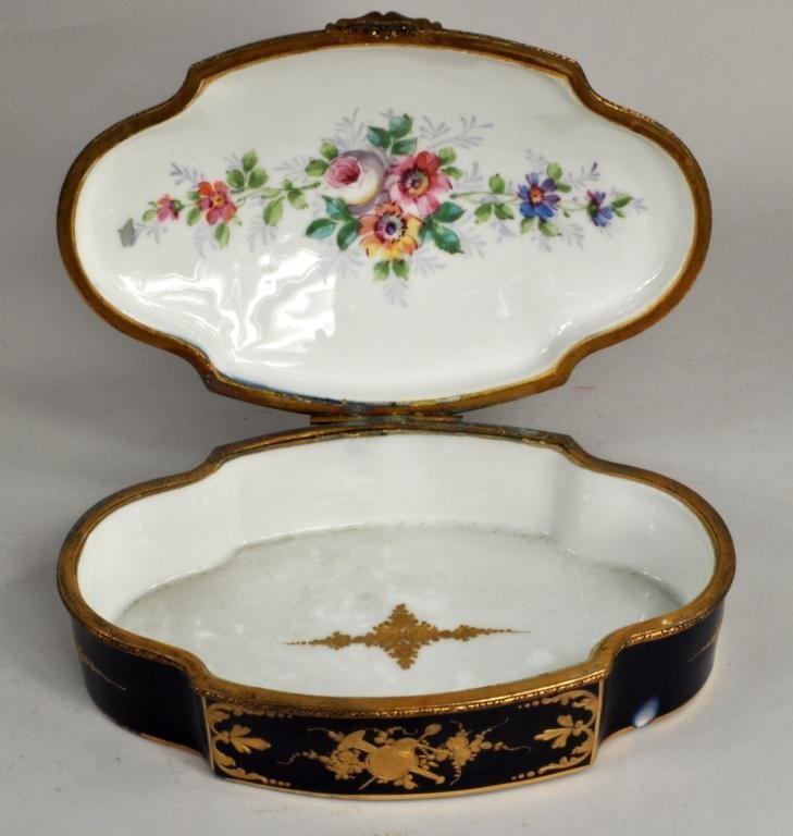 French Porcelain Sevres Style Covered Box - 2