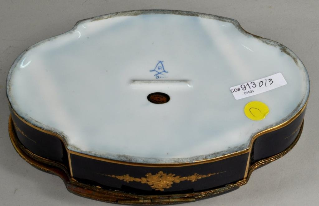 French Porcelain Sevres Style Covered Box - 3