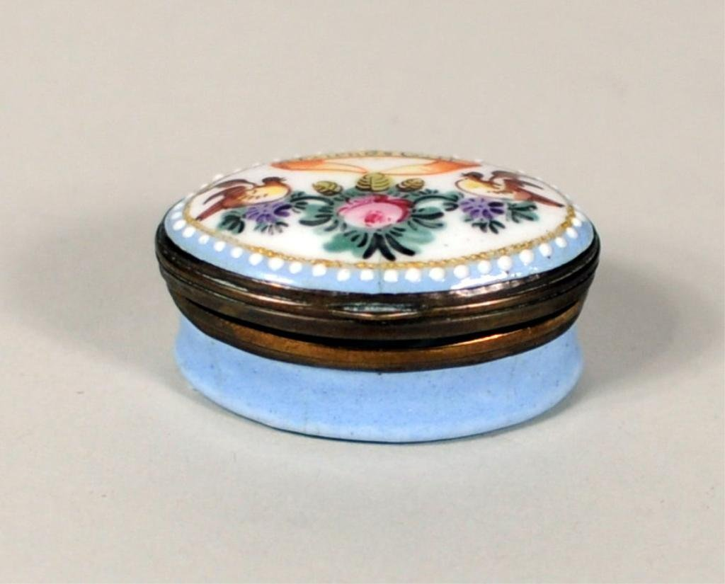 English Enamel Patch Box, 18th/19th Century
