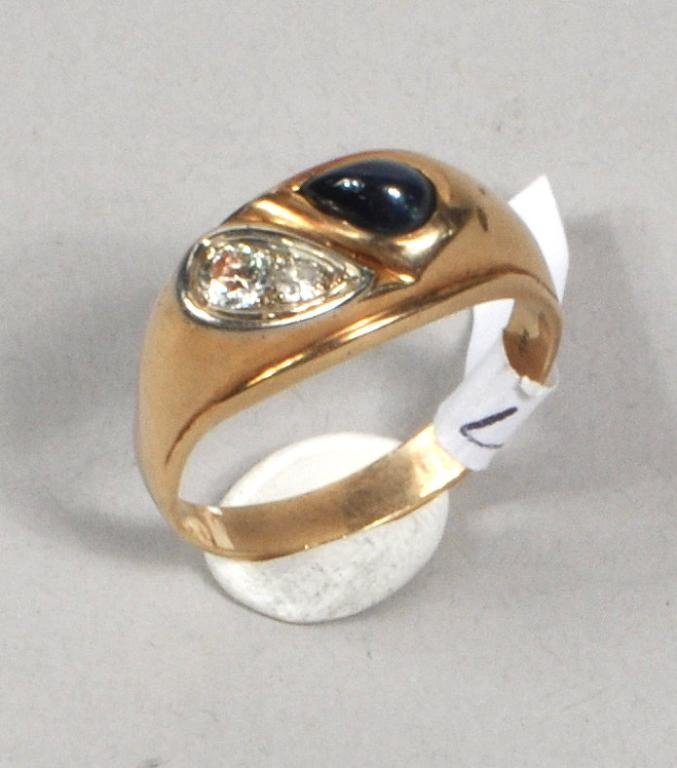 Men's 14K Gold Diamond Ring