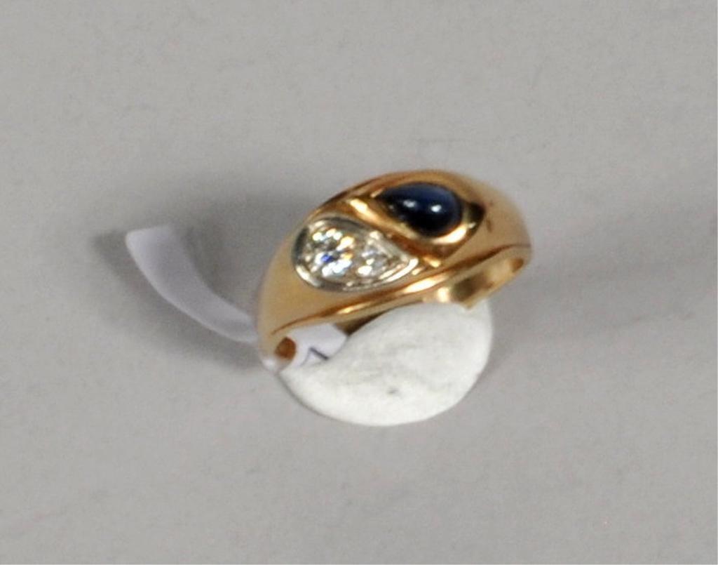 Men's 14K Gold Diamond Ring - 2