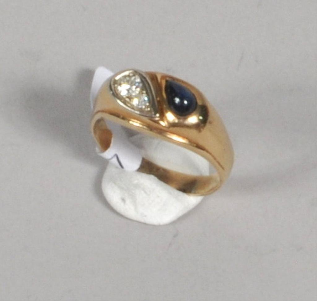 Men's 14K Gold Diamond Ring - 3