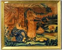 Figural Theorem Painting On Velvet