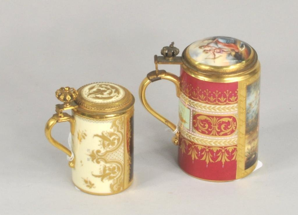 Two Royal Vienna Porcelain Steins - 2