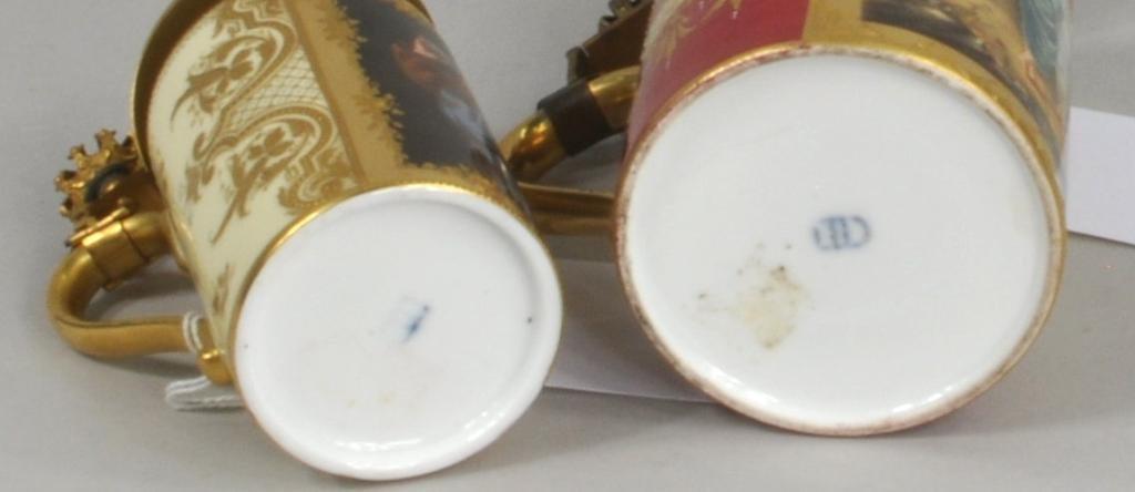 Two Royal Vienna Porcelain Steins - 3