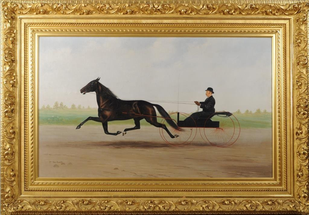 Wm. Van Zandt, O/C Sulky and Rider, Original Frame