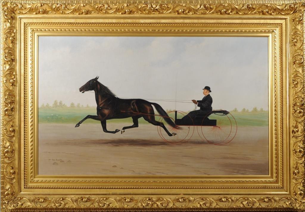 Wm. Van Zandt, O/C Sulky and Rider, Original Frame