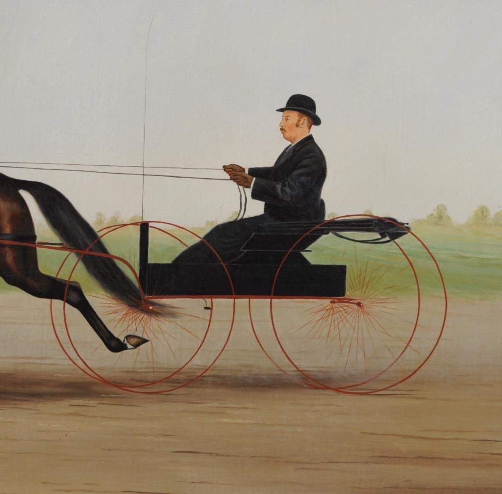 Wm. Van Zandt, O/C Sulky and Rider, Original Frame - 2