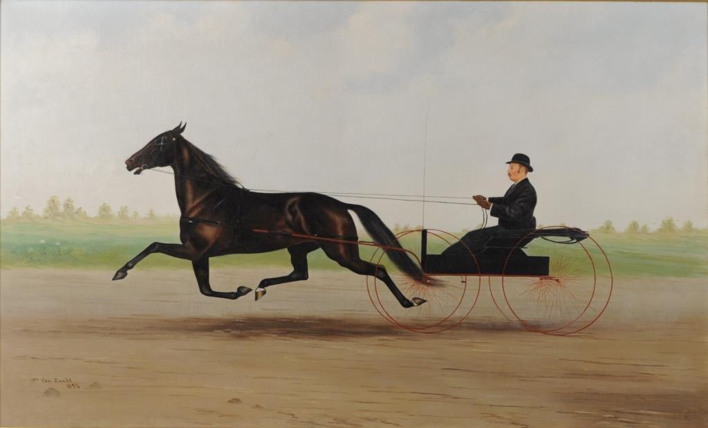 Wm. Van Zandt, O/C Sulky and Rider, Original Frame - 4