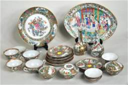 Chinese Rose Medallion Porcelain Items