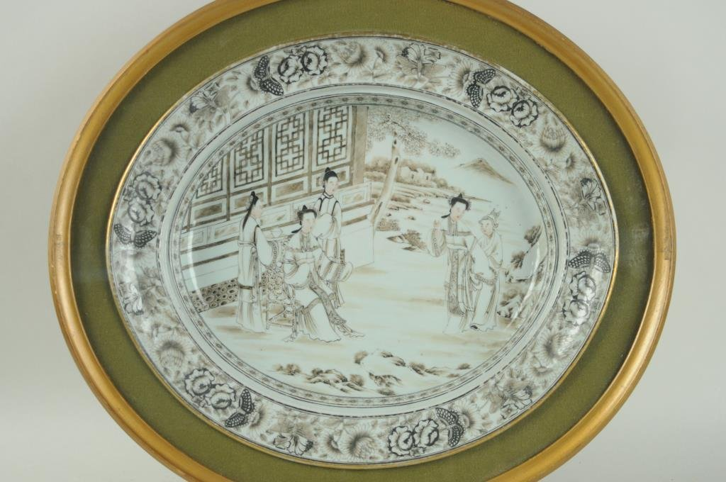 Chinese Export Porcelain Oval Bowl - 2