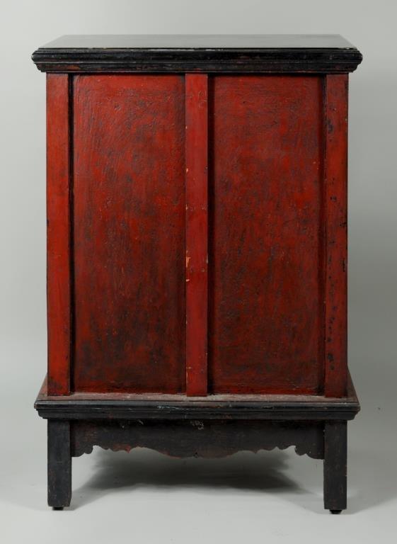 Thai Gilt Decorated Ebonized Tapering Cabinet - 10