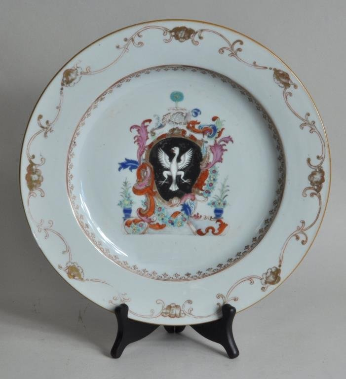 Chinese Export Famille Rose Armorial Charger