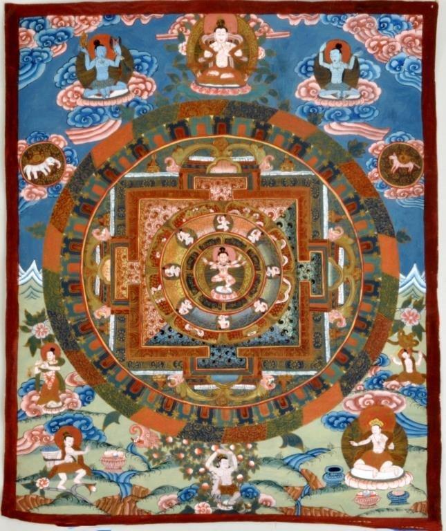 Small Unframed Tibetan Thangka