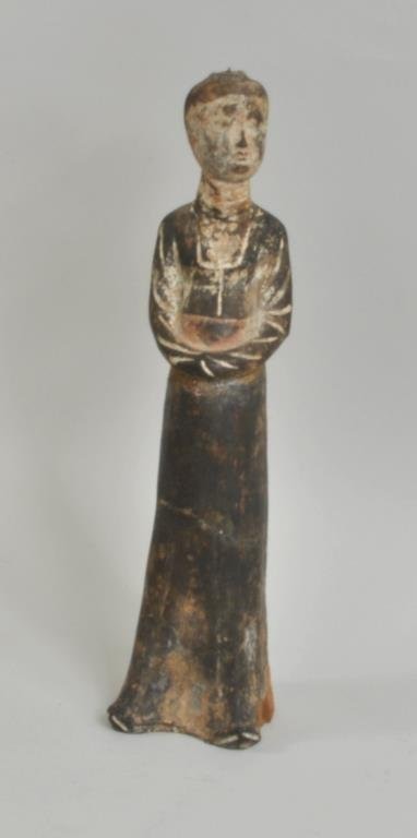 Chinese Pottery Tomb Figure, Possibly Tang Dynasty