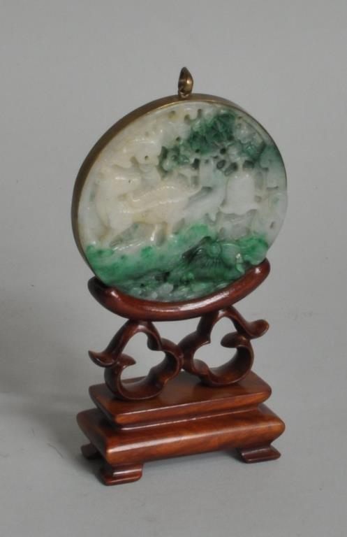Jadeite Pendant on Stand